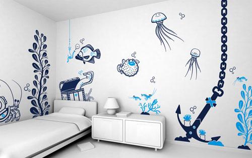 نقاشی اتاق کودک