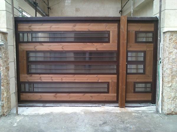 درب چوب و فلز
