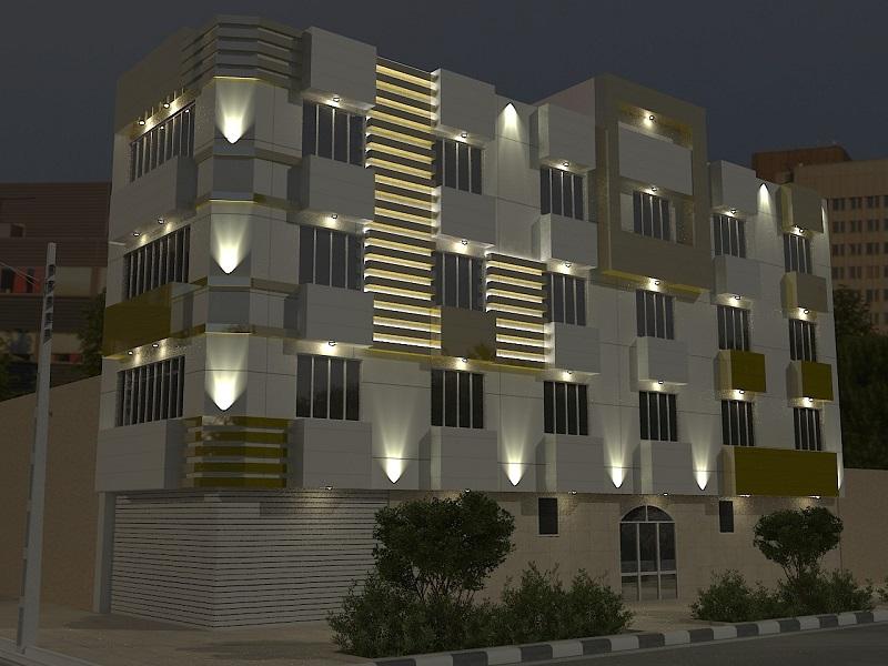 نورپردازی ساختمان مسکونی